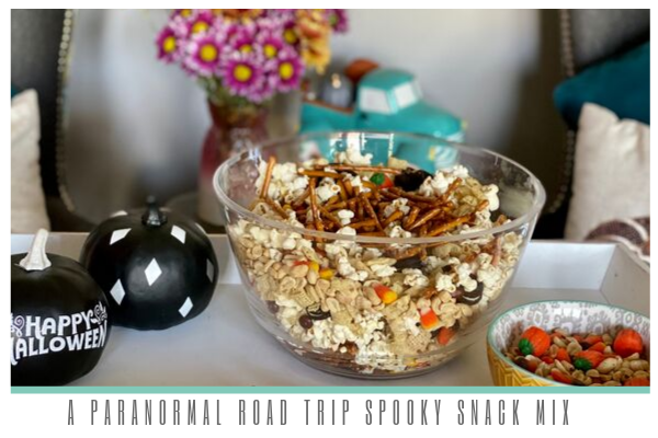 a paranormal road trip podcast spooky snack mix